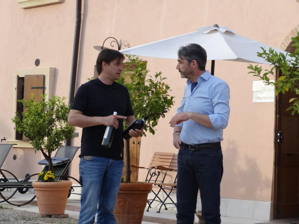 Stefano Mazzi & Markus Beer mit Amazone Castel