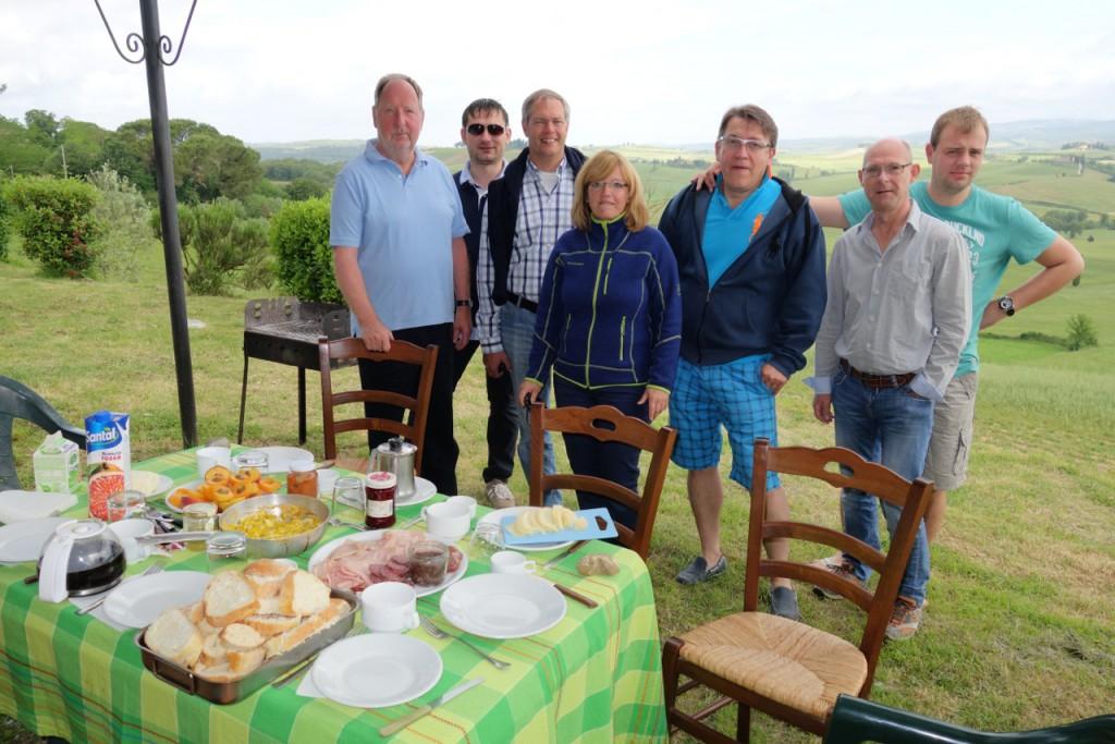 Mir Freunden in der Toskana